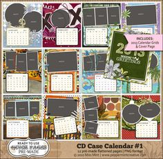 CD Case Calendar #1 2013 Calendar, Calendar Ideas, Cd Case Crafts, Diy Crafts, Cd Cases, Cover Pages, Diy Projects To Try, Craft Fairs, Digital Scrapbooking