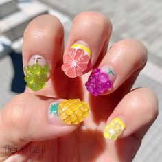 Stay current on the chicest trends in nails, Our favorite nail designs, tips and inspiration for women of every age! Fruit Nail Designs, Crazy Nail Designs, Nail Art Designs Videos, Spring Nail Art, Summer Acrylic Nails, Cute Acrylic Nails, Crazy Nail Art, Crazy Nails, Converse Nail Art