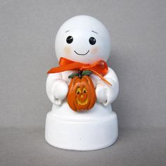 Halloween Ghost Flowerpot Bell Ornament by sanquicreations on Etsy, $8.99