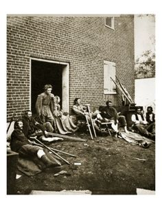 Union soldiers wounded at Fredericksburg, Va. Matthew Brady