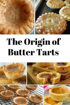 The History of Canada's Pastry - Origin of Butter Tarts - Thrifty Mommas Tips Canadian Butter Tarts, Canadian Dishes, Baking Recipes, Dessert Recipes, Tasty Pastry, Afternoon Tea Recipes, Delicious Desserts, Yummy Food, Apple Pie Bars
