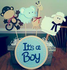 Baby Boy Shower Ideas › Baby Shower Centerpieces › Easy and Fun Baby Shower Centerpiece Ideas for Boys Cute Baby Shower Ideas, Baby Shower Decorations For Boys, Unique Baby Shower, Boy Baby Shower Themes, Baby Shower Centerpieces, Baby Shower Favors, Baby Shower Cakes, Baby Shower Parties, Baby Boy Shower