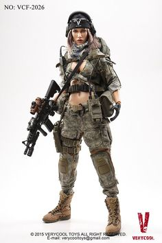 """VERYCOOL VCF2026 Limited Edition 1/6 Scale ACU Camo Female Shooter Set For 12"""" Action Figure Doll Model Toys Hobbies Gifts H"""