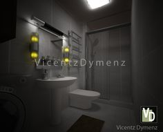 Studio Type Condo, 3d Interior Design, Thing 1, Bathroom Lighting, Mirror, Bedroom, Furniture, Home Decor, Bathroom Light Fittings