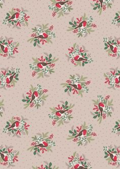 A Christmas fabric range featuring snowflakes to Christmas Robins. Christmas Fabric, Christmas Design, Winter Christmas, Christmas Crafts, Xmas, Winter Background, Paper Background, Fabric Birds, Ticking Stripe