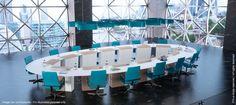 I-Rise de Craie Design - Salles de conseil d'administration avec écrans escamotables.