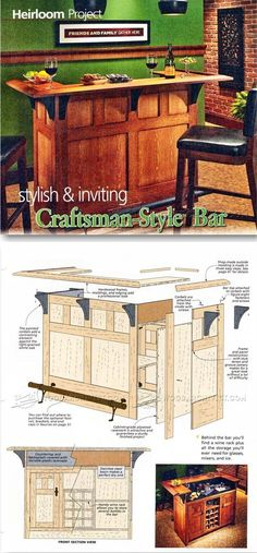 Home Bar Plans - Furniture Plans and Projects | WoodArchivist.com
