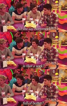 """Does it involve the buttah sock?"" -Niall"