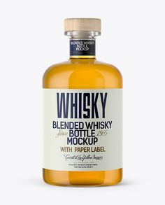 Clear Glass Whisky Bottle Mockup (Preview)
