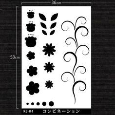 ツタや花を組み合わせて 自分オリジナルの柄を作れると楽しいかなと考えたデザイン。色の組み合わせだけでもたくさんの表情がでてきますよ。サイズ:360×530mm材質:PP製造・発売元:株式会社 ビビッドヴァンdesig