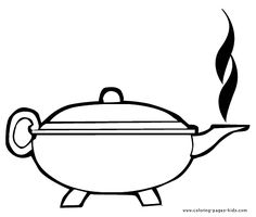 Teapot color page Drink coloring pages, color plate, coloring sheet,printable coloring picture.  Can be used as paper piecing for Scrapbooking