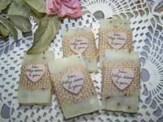 rustic favors 50 wedding favors bridal shower by CountryChicSoaps, $86.50