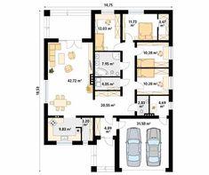 Decyma 9 projekt domu - Jesteśmy AUTOREM - DOMY w Stylu New House Plans, Home Projects, Planer, New Homes, The Sims, Sims 4, Floor Plans, Flooring, How To Plan