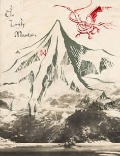 The Lonely Mountain <3 .. Tolken, I always find his choice of mountain names to be interesting.
