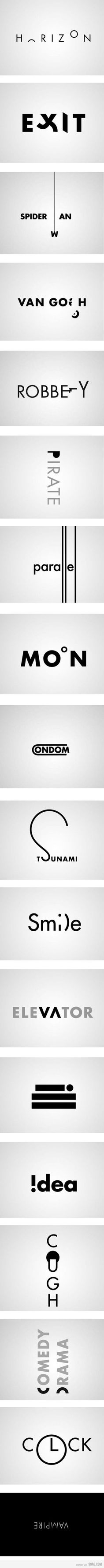 Logos that depict the meaning of the word.