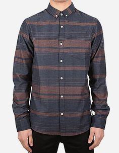 iriedaily - Jonah Bamboo LS Shirt navy red