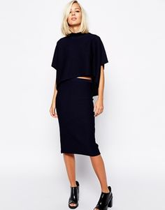 Can't get enough of ribbed pieces! And I know this skirt is just going to sit right on my curves: highlighting my bum and sucking in my tummy. Oh and my hips - meet my new friend people! http://asos.to/1vO6wYW