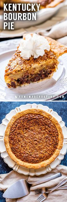 A total southern tradition, this Kentucky bourbon pie is a creamy mix of chocolate chips and pecans. Whether you're watching the Derby or just need a crunchy chocolate fix, it's a must-make whenever the weather warms up! Burbon Pecan Pie, Chocolate Bourbon Pecan Pie, Chocolate Chip Pie, Pecan Cobbler, Chocolate Recipes, Chocolate Tarts, Pecan Pies, Southern Pecan Pie, Southern Desserts