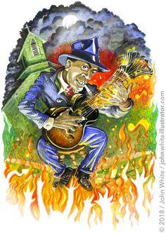 . Robert Johnson, Life And Death, Musicals, Blues, Painting, Art, Art Background, Painting Art, Kunst