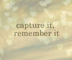 I love pictures so much. They really do help you remember. <3