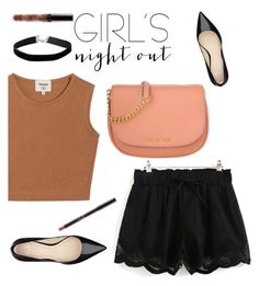 """Girl s night out"" by sweet-fashionista ❤ liked on Polyvore featuring Samuji, Michael Kors, Miss Selfridge and girlsnightout"