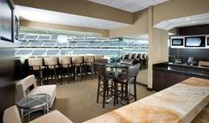 Dallas Cowboys Stadium suite - Yes, they are this nice!  :)