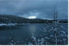 Lake Coeur d'alene in the winter.