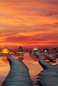 Burning lake, Hungary