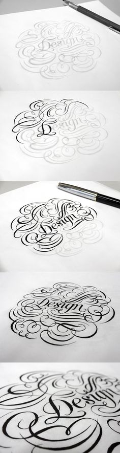 fine ornamental lettering + calligraphy inspiration for hand lettering + typography projects