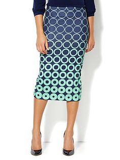 Shop 7th Avenue Suiting Collection - Pencil Skirt - Geo Print . Find your perfect size online at the best price at New York & Company.
