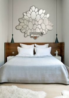 mirrors will accentuate the perceived size of any room