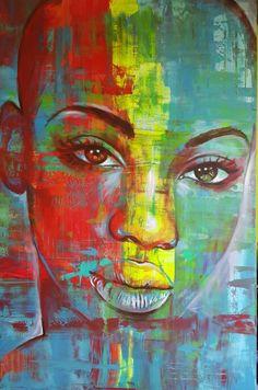 """""""Tatenda"""" 120x183x5cm www.gerhardvanvuurenart.com"""