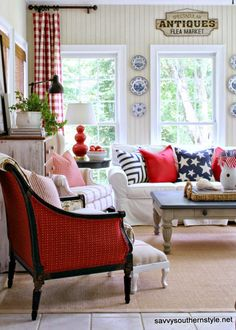 Stars and Stripes in the Sun Room 2014