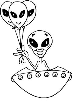 Desenhos para pintar Extraterrestres 6