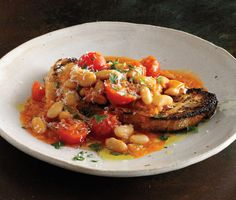 White bean ragout with Italian soffrito recipe.  Great base for app, pasta or entree
