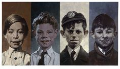 The Rolling Stones as kids by Sebastian Kruger.