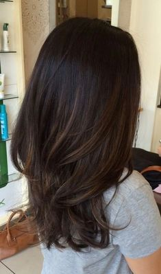 Dark brunette with subtle light brunette ombré bayalage