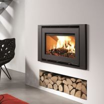 Inset Fireplace, Wood Burner Fireplace, Wood Burning Fireplace Inserts, Fireplace Ideas, Fireplace Mantel, Wood Burning Fireplaces, Modern Fireplaces, Mantel Ideas, Inset Log Burners