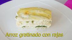 Rica receta de como hacer arroz gratinado con 3 quesos y rajas de chile poblano. https://youtu.be/GSXVe1oL4ZY