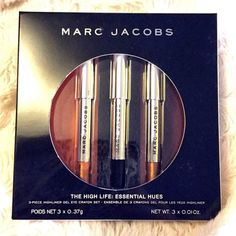 Marc Jacobs Highliner LE Gel Liner Set Brand new in box never opened. These are deluxe size .01oz each they last forever best liner I've ever used. Get sunset, blacquer, rio. Part of the holidays limited edition sets. **** Save the most by adding to bundles. My normal discount is 20% off of 2 or more items unless I'm running a sale to save more! ****** Marc Jacobs Makeup Eyeliner