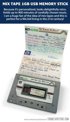 Aw, I miss mixed tapes. I want this to give to someone, and I want someone to give this to me. With lots of cool music. K thanks.