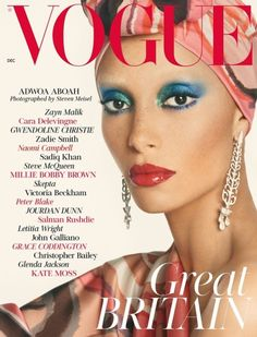 Adwoa Aboah photographed by Steven Meisel for Vogue UK December 2017 (ok Edward... we see you)