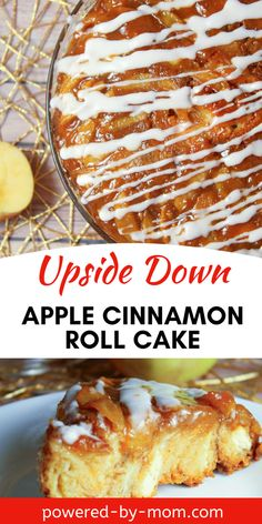 Cinnamon roll flavor with apples and caramel are what make this Upside Down Apple Cinnamon Roll Cake so scrumptious and decadent. All your favorites rolled into one dessert. #cinnamonroll #applecake #caramel #dessert #dessertrecipe #recipes #desserts Apple Cake Recipes, Dessert Recipes, Apple Desserts, Fun Desserts, Apple Cinnamon, Cinnamon Rolls, Vegan Recipes, Cooking Recipes, Easy Recipes