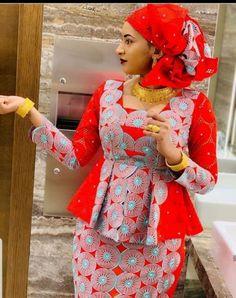 latest ankara skirt and blouse styles 2018peplum ankara skirt and blouselatest ankara skirt and blouse 2018ankara long skirt and blouse #africanfashion #african #fashion #peplum Long African Dresses, African Lace Styles, Latest African Fashion Dresses, African Print Dresses, African Print Fashion, African Print Dress Designs, African Blouses, African Traditional Dresses, African Attire