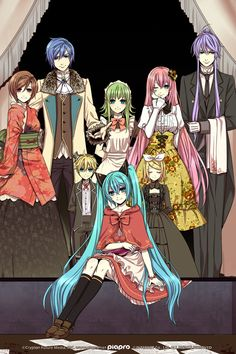 Artist: Suzunosuke | Vocaloid | GUMI | Hatsune Miku | Kagamine Len | Kagamine Rin | KAITO | Kamui Gakupo | Megurine Luka | MEIKO