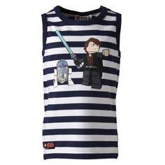 LEGO Wear Star Wars - Camiseta de tirantes con cuello redondo para niño, color azul (midnight blue) 588, talla 4 años (104 cm) #camiseta #starwars #marvel #gift