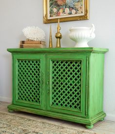 Antibes green with a 50/50 mix of clear & dark wax by heidi schatze: It Ain't Easy Being Green
