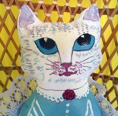 Handmade OOAK Cat Cloth Doll Arisha by irinaalek on Etsy