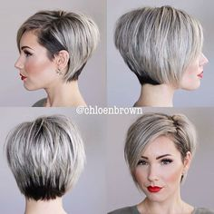 New Hair Cuts Short Brown Waves Ideas Short Bob Haircuts, Straight Hairstyles, Cool Hairstyles, Undercut Hairstyles, Hairstyles 2018, Short Bob With Undercut, Undercut Pixie, Haircut Short, Hairstyle Short