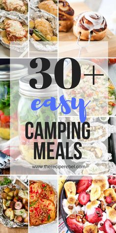 These easy Camping Meals are perfect for on-the-go, over the fire and making ahead! Foil pack dinners, campfire meals and cast iron recipes to bring on your next camping trip! #camping #grilling #summer #recipe